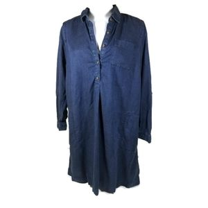 J Jill Denim | V-Neck Long Sleeve Dress